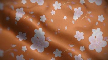 Light Pink Floral Pattern Over a Dark Peach Flag Background video