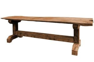 Wooden table isolated. photo