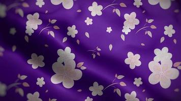Light Pink Floral Pattern Over a Purple Flag Background video