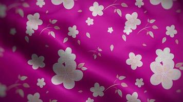 Light Pink Floral Pattern Over a Fuchsia Flag Background video