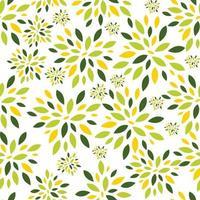 flor, hojas, seamless, patrón, plano de fondo, vector, ilustración vector