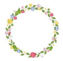 marco floral para boda y tarjeta de cumpleaños. ilustración vectorial vector
