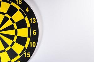 Yellow dart board. photo