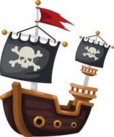 One Pirate ship vector
