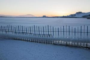 ke sevan cubierto de hielo foto