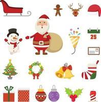 Christmas icons illustration vector