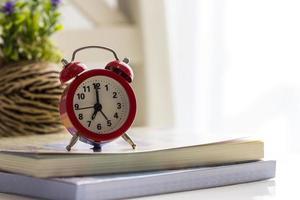 Alarm clock in the bedroom photo