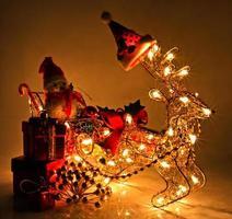 christmas decoration with light bulb photo