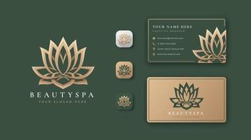 beauty lotus logo vector