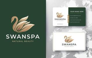 swan spa logo vector