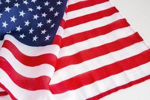 USA flag on white background photo