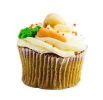 cupcake on white background photo