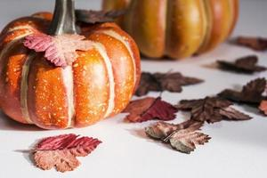 Thanksgiving and halloween concept of pumpkin photo