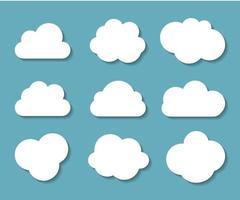Set of Cloud Shaped Frames Vector Illustration