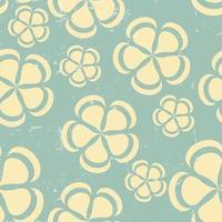 Grunge Retro flower pattern background seamless vector
