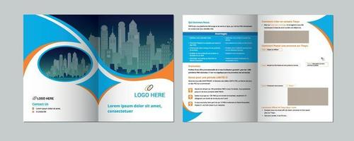 Brochure creative design. Multipurpose template with cover. vector