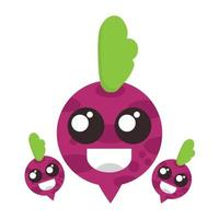 bit fruit with smile face illustration. world vegan day vector