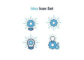 setting icon flat design style vector