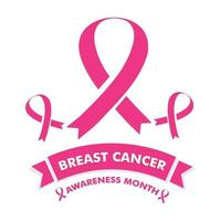 breast cancer awareness month design. breast cancer pink ribbon. vector