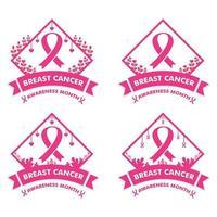 breast cancer awareness month design. breast cancer pink ribbon banner vector