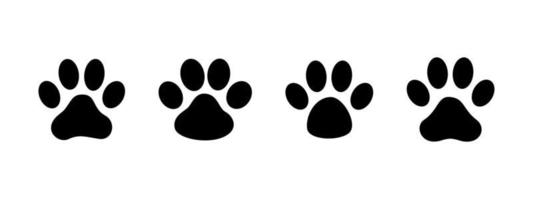 Dog and cat paw prints collection. Free vector