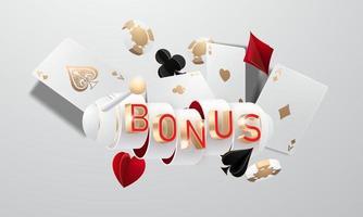 Online casino bonus, vector
