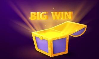 treasure chest Big win Casino Luxury vip Celebration party Gambling vector