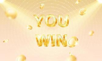 you win Casino Luxury vip invitation Celebration party vector