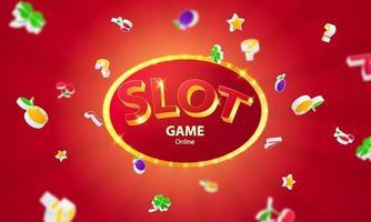 Online casino. mega jackpot frame, slot machine, vector