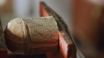 Woodcarver Carves a Helmet video