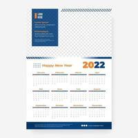 2022 calendar template with frame vector