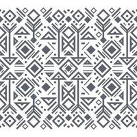 Navajo black and white seamless patterns vector
