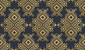 Navajo gold elements seamless patterns and abstract aztec elements vector