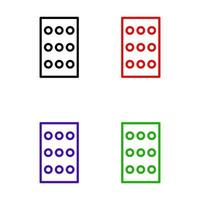 Pills illustrated on a white background vector