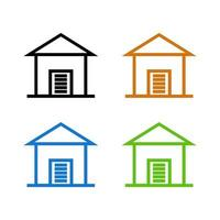 Garage illustrated on a white background vector