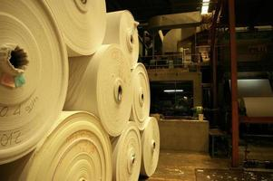 Tissue paper in the big roll store in factory photo