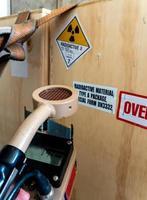 Radiation measurement with radiation survey meter photo