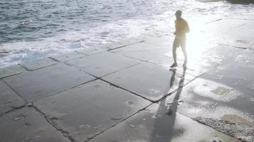 Male Runner Training Outdoors video