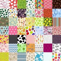 49 Seamless Pattern Set Vector Illustration