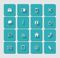 vector plano conjunto de iconos para web