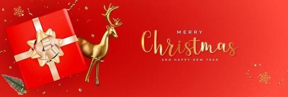 Christmas Holiday Party Background. Happy New Year vector