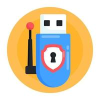 Usb Adapter Protection vector