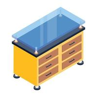 Bedside Table and Cabinet vector