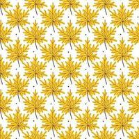seamless patten of golden maple leaves. Vector illustration