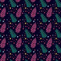 seamless pattern with Rowan leaves. Vector illustration