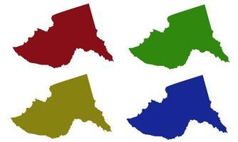 Meru County map silhouette in kenya vector