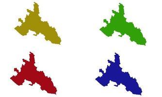 Nakuru County map silhouette in kenya vector
