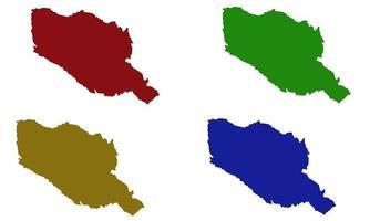 Muranga County map silhouette in kenya vector
