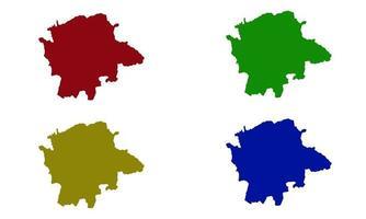map of Karnataka silhouette in india vector