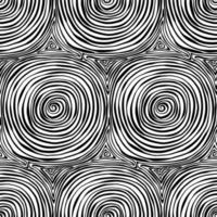 Hand drawn doodle abstract black and white seamless pattern vector
